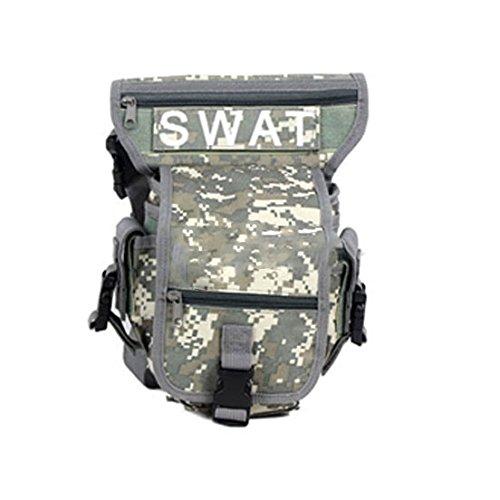 Männer Jungen Mehrzweck Militär Training CS SWAT Wanderung Jagd Taille Trägergürteltasche Camo Grau