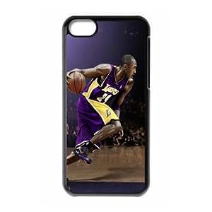 The NBA star Kobe Bryant for Apple iPhone 5C Black Case Hardcore-1