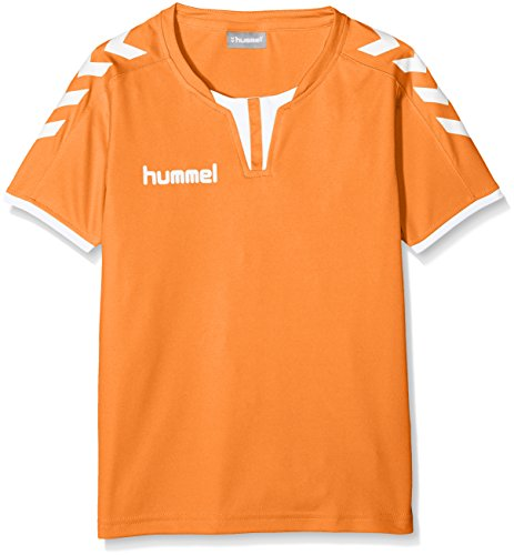 /T-Shirt for Sport and Training Hummel Mens Jersey Fitness Shirt Reflector Poly Jersey SP/