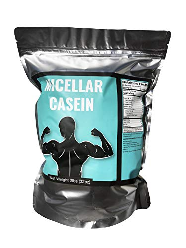 MICELLAR Casein Protein from France - 2 LB 100% Fresh Curd Casein from French Farms - Bulk - GMO Free, Soy Free, Preservative Free - Slow Release Protein - 30 Serving