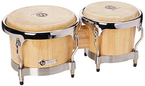 (LP Classic II Bongos with Chrome Hardware Natural)