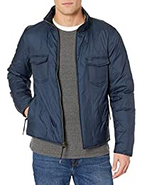 Men's Full Zip Onion Quilted Water Resistant Down Shirt Jacket