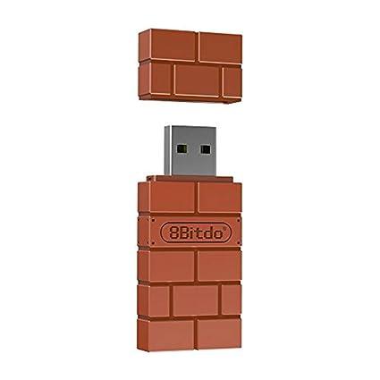 8Bitdo RET00102 Tarjeta y Adaptador de Interfaz Bluetooth - Accesorio (USB Tipo A, Bluetooth, Marrón, Android, 50 g, 130 mm)