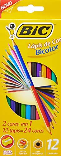 Lápis de Cor Sextavado, BIC 7422104, Multicor, Pacote de 6
