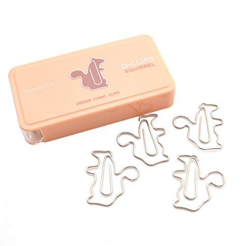 We-buys Squirrel Shape Paper Clips File Paper Documents Clip Home Office Supplies 12 Pcs