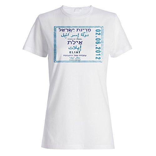 Staat von Israel eilat Stempelweinlese Damen T-shirt f266f