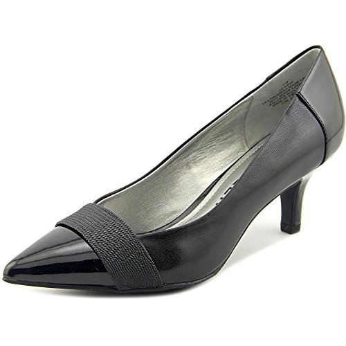 ump Women US 9 W Black Heels (Ak Anne Klein Mules)