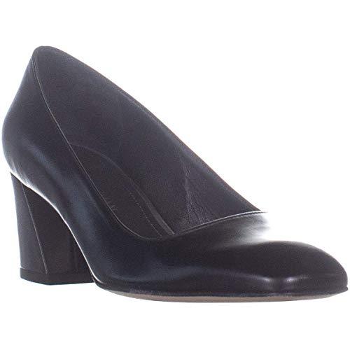 (Stuart Weitzman Women's Mary Block Heel Pumps, Black Kid, 7 B(M) US)