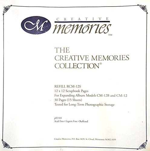 Creative Memories 12 x 12 Scrapbook Pages Refill RCM-12S Creative Memories 12x12 Scrapbook
