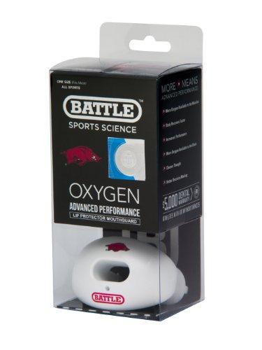 (NCAA Arkansas Razorbacks Oxygen Lip Protector Mouthguard, White )