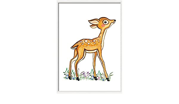 graphic about Deer Printable called : Fawn nursery decor Woodland deer print Woodland