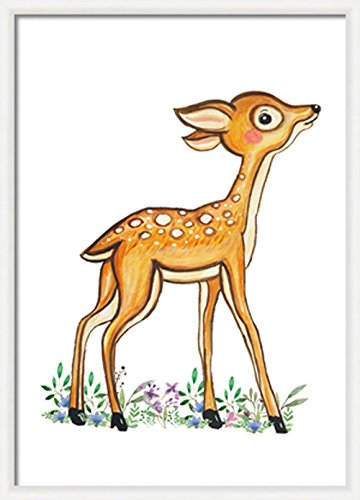 photo regarding Printable Woodland Animals called : Fawn nursery decor Woodland deer print Woodland