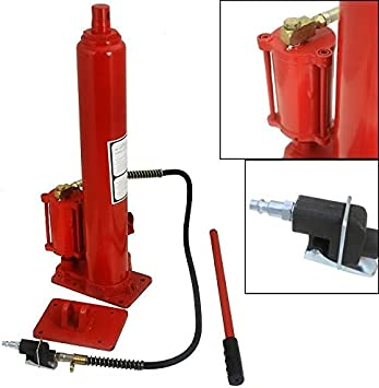 Voyager Tools 8 TON Air//Hydraulic Long Arm Ram Jack with Removable Base