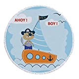 Best Tommy Bahama Beach Boats - iPrint Thick Round Beach Towel Blanket,Kids,Ahoy Its a Review