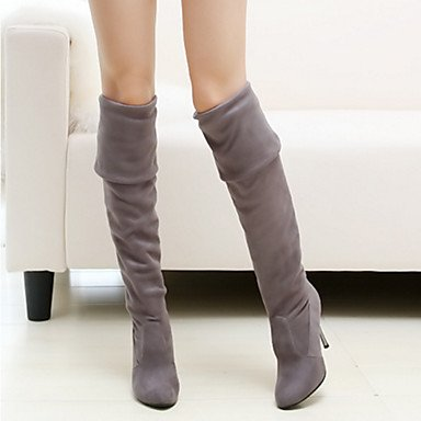 Boots Summer Pointed Boots Dress Toe Shoes Office US5 Career RTRY CN34 Spring Comfort high Suede EU35 For amp; UK3 Thigh Fashion Stiletto Women's Novelty Heel Boots Ixqpz