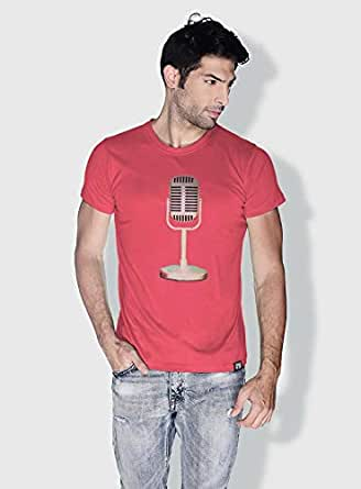 Creo Microphone Retro T-Shirts For Men - L, Pink