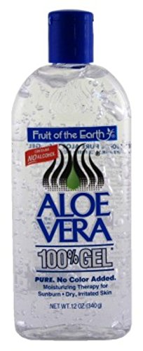 Fruit Of The Earth 100 % Aloe Vera Gel, 12 oz (Pack (Georges Aloe Vera Lotion)