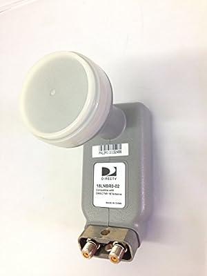 "New Directv 18"" inch Dish Dual LNB 101 Satellite standard model 18LNBR0-02 by Directv"