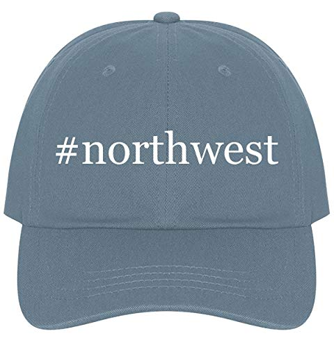 (#Northwest - A Nice Comfortable Adjustable Hashtag Dad Hat Cap, Light Blue )