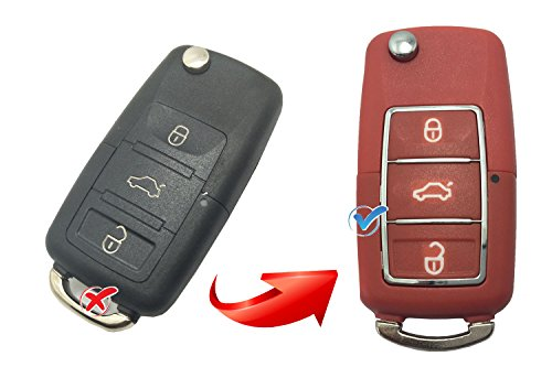Keyless Entry Folding Flip Remote Control Key Fob Case For VW Volkswagen Passat Santana Jetta Key Fob - Santana Shell