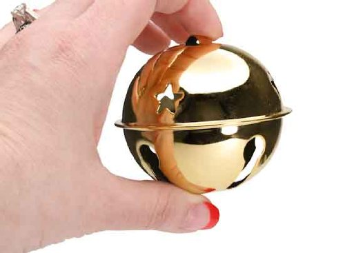 Gold Metal Jingle Sleigh Bell for Crafting, Designing and Decorating - 8 Total Bells