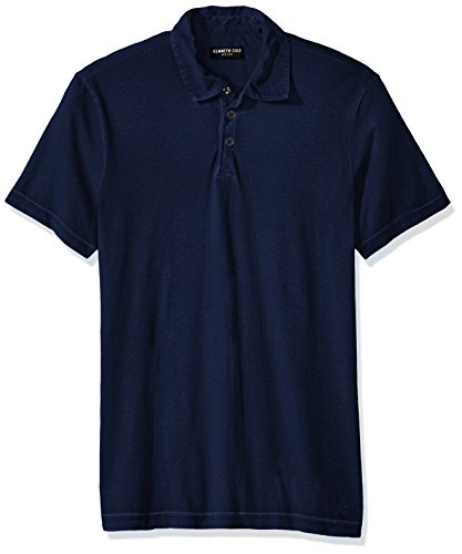 Kenneth Cole New York Men's Washed Polo Shirt, Oxford, Large
