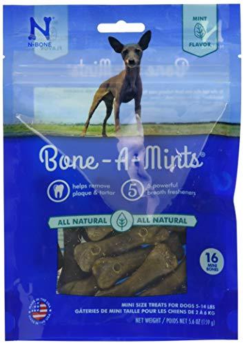 Bone-A-Mints All Natural, Wheat-Free Breath Freshening Bone, 5.60-Ounce, Mini, 16-Pack