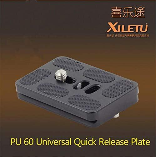 XILETU PU-60 General Quick Release Plate Width 38mm Length 60mm Screw UNC 1//4