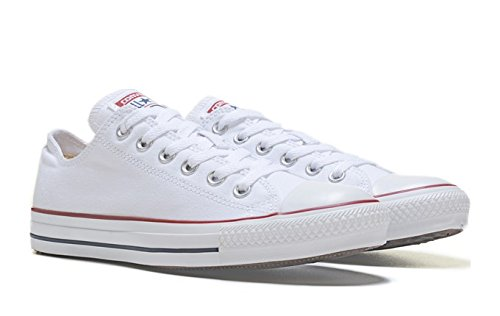 Converse Unisex Chuck Taylor All Star Ox Sneakers Optical White M7652 (4.0 Men / 6.0 Women)