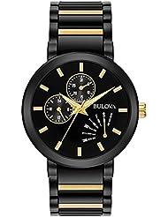 Bulova Men's Quartz Stainless Steel Casual watchMulti Color (Model: 98C124)
