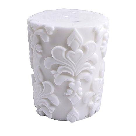 Molde de silicona para hacer velas de jabón, cilindro redondo 3D, con alivio clásico: Amazon.es: Juguetes y juegos