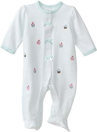 Little Me Baby-Girls Newborn Cupcake Schiffli Footie, Mint Green, Pre