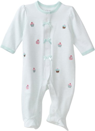 Little Me Baby-Girls Newborn Cupcake Schiffli Footie