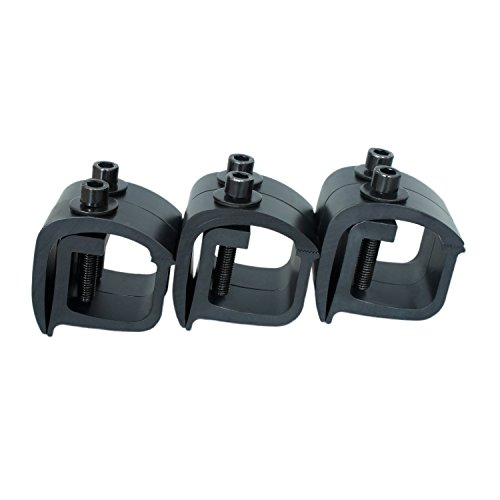 (AA-Rack P-AC(6)-01 Set of 6 Aluminum C-clamps For Non-Drilling Truck Rack & Camper Shell Installation-Black)