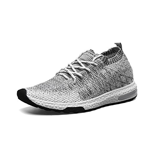 TIOSEBON Lightweight Mens Casual Sneakers Breathable Athletic Running Shoes F-1720 Light Gray yAKITv