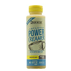 Omega PowerCreamer - VANILLA (NEW) - Made with Grass-fed Organic Ghee, Organic Coconut Oil, MCT Oil from 100% Coconuts | Premium Butter Coffee Blend | keto, paleo 10 fl oz (20 servings)