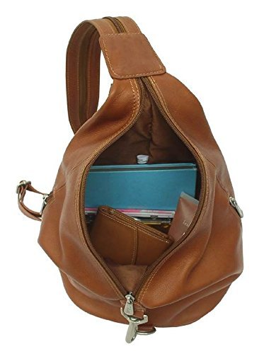 w Strap Saddle Bag Leather 3 in Zippered Sling Zip Hobo Split qBXwwvR8x