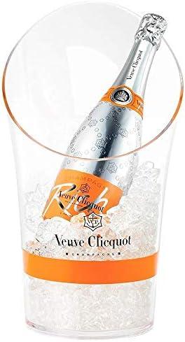 Veuve Clicquot Rich Champagnerkühler Kühler Champagner Flaschenkühler für 0,75 und 1,5l Liter Magnum Flaschen Transparent