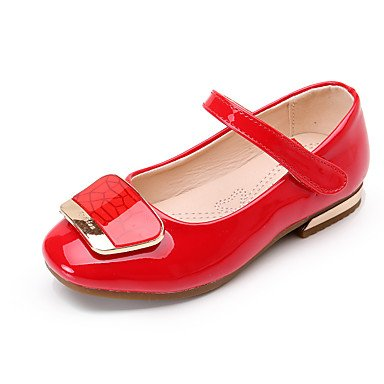 US13   EU31   UK12 Little Kids FYios Le Coin des Enfants en Cuir Ballet Heels Talon Bas rendement Rouge Rose Noir Ruby sous 1 Personnalisable Ruby