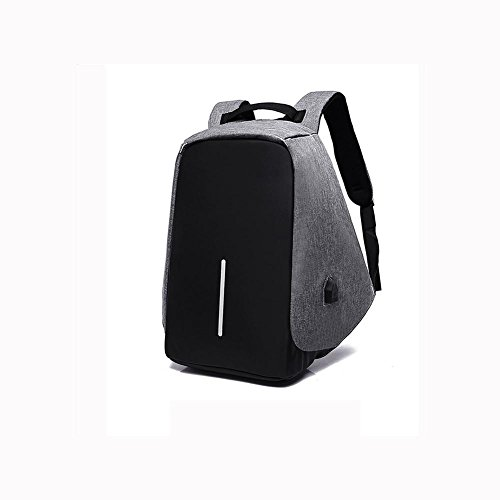 For Capacity Laptop theft Backpack Men Student Usb Business Charging Rucksack Interface Grey Anti With High Plyy nH0COO