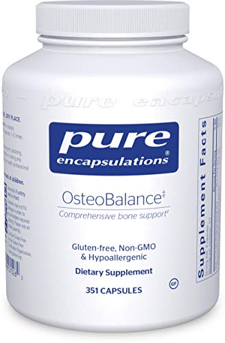 Pure Encapsulations – OsteoBalance – Hypoallergenic Supplement to Promote Calcium Absorption and Enhance Healthy Bone Mineralization* – 351 Capsules