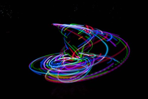 36'' - 24 Color Changing LED Hula Hoop - Cotton Candy Rainbow by ElectricLifeStylz (Image #2)