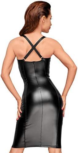 Noir Handmade Schwarzes Powerwetlook Kleid