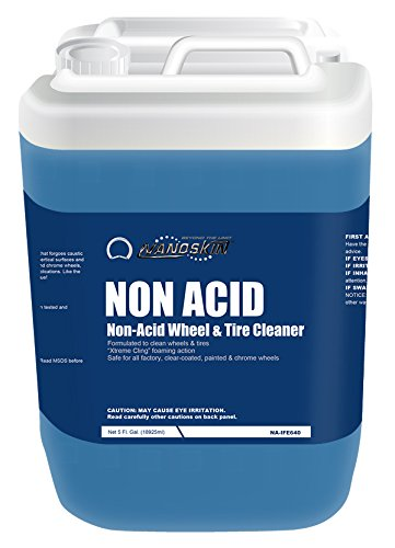 Nanoskin (NA-NAD640) Non Acid Non-Acid Wheel & Tire Cleaner - 5 Gallon