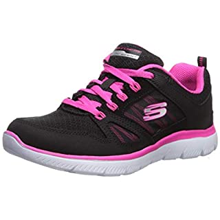 Skechers womens Summit - New World Sneaker, Black/Hot Pink, 6 US