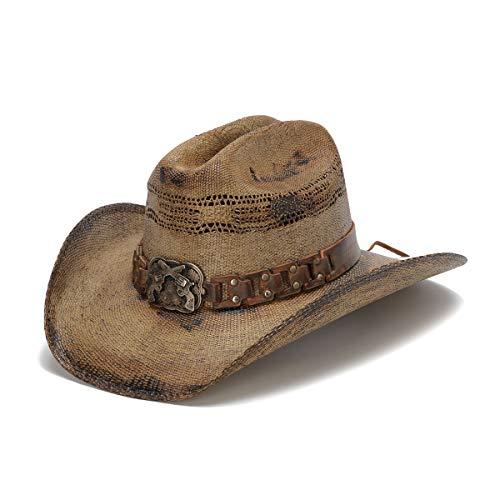 (Stampede Hats Men's Gunman Wanted Cowboy Hat M Tea Stain)