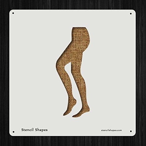 Pantyhose Leggings Legs Lingere Tight Style 15053 DIY Plastic Stencil Acrylic Mylar (Mylar Hose)