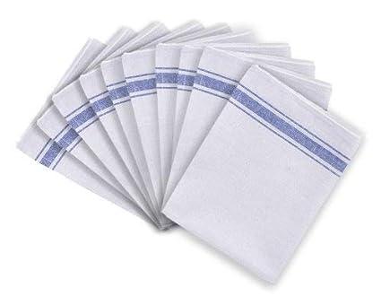 Paquete de 10 Toallas de Té 100% Algodón para Cocina, Restaurantes, Bares,