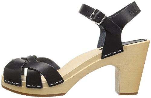 01 Hasbeens Kringlan Women's black Sandal Swedish Black Heeled x1gZzwnnqH