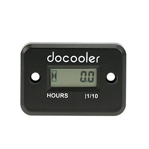 Docooler Inductive Hour Meter for Marine ATV Motorcycle Dirt Ski Waterproof - Black